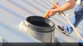 Sun Tunnel Installation on a Metal Roof