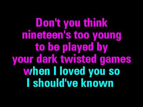 Dear John Karaoke - Taylor Swift - You Sing The Hits