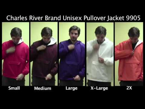 Sizing for our Charles River Pullover Jacket (9905)