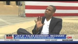 Poppy Harlow grills Jay-Z on CNN