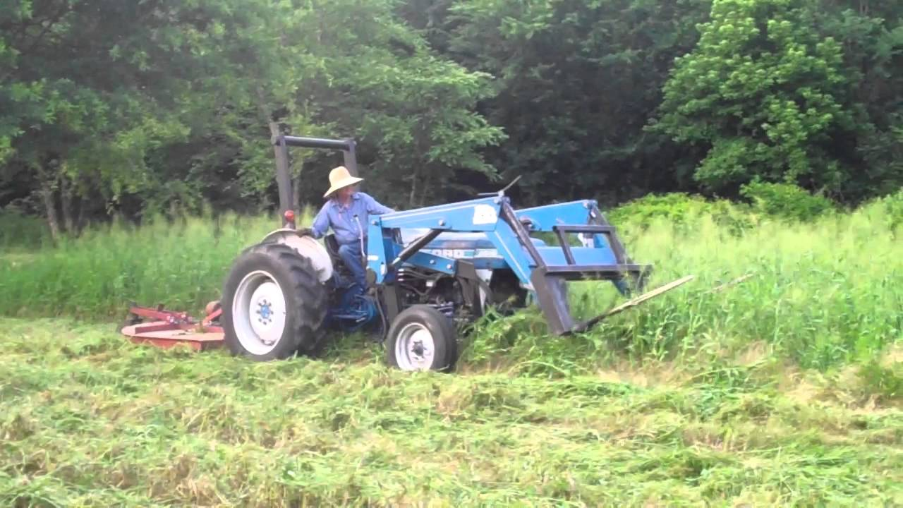Ford 2810 And 7ft Corsicana Rotary Cutter