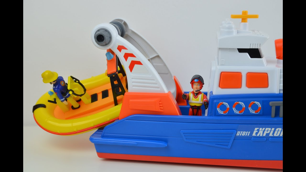 new fireman sam rescue boat break down feuerwehrmann sam