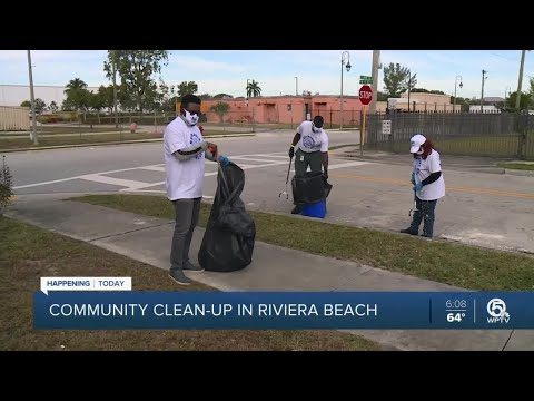 Community-clean-up-in-Riviera-Beach-on-Friday
