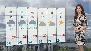 [날씨] 내일도 장맛비 소강…덥고 중부 소나기 / 연합뉴스TV (YonhapnewsTV)