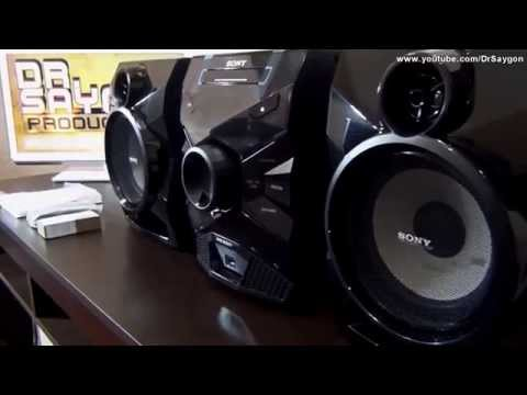 Unboxing Mini System Sony MHC-ESX6 Bass Bazuca (MP3, WMA ou AAC) Music USB recorder