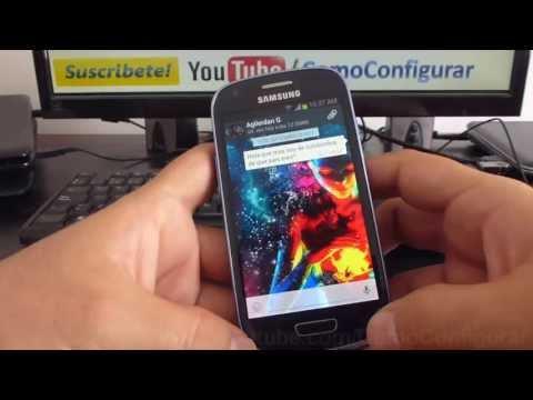 como agregar contactos a whatsapp de brasil en samsung Galaxy S3 mini i8190 español Full HD