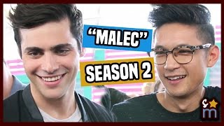 Matthew Daddario & Harry Shum Jr Talk Malec & SHADOWHUNTERS Training | Teen Choice 2016 Interview
