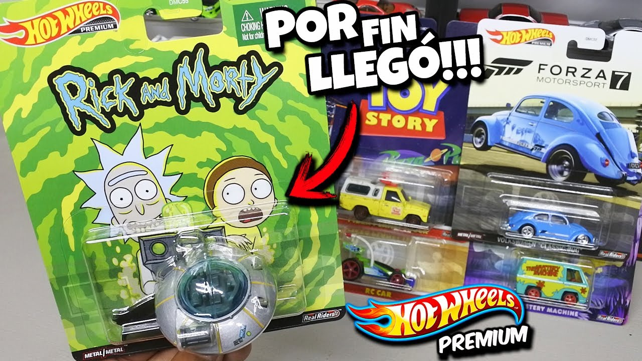 Ya tengo la nave de Rick & Morty - Hot Wheels Premium, Pizza Planet, Forza 7 y Mystery Machine