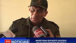 Investigan supuesto suicidio de adolescente en Tarija