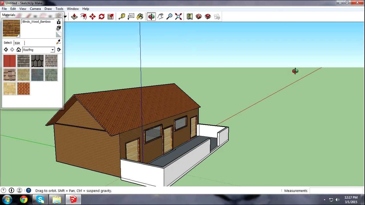 Google sketchup 2015 how to build an basic house youtube for Sketchup building