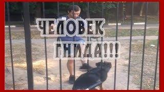В городе Орёл по улице ходит шизик, который избивает собаку КТО УЗНАЛ?! Максимальный РЕПОСТ!!!