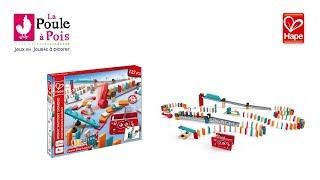 Circuit de dominos Robot Factory - Hape - lapouleapois.fr