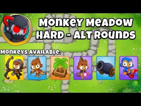 Monkey Meadow, Hard Alternate Bloon Rounds - Jul 22, 2018