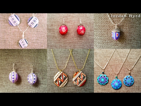 DIY Egg Art Tutorial - How to Use Epoxy on Eggs for Jewelry - Earrings Pendants