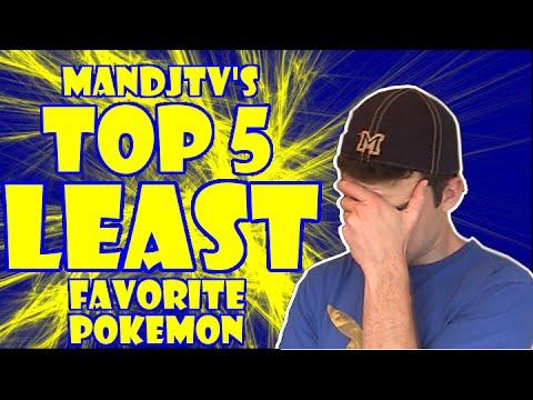 MandJTV's Top 5 Least Favorite Pokemon