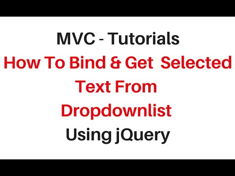 mvc get selected value from dropdownlist c# 4 6 - YouTube