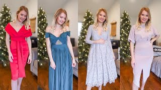 ASOS midi HOLIDAY dress try-on HAUL