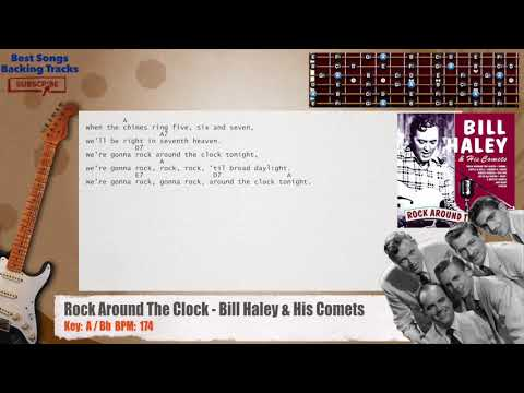 Rock Around The Clock - Bill Haley & His Comets Guitar Backing Track with chords and lyrics