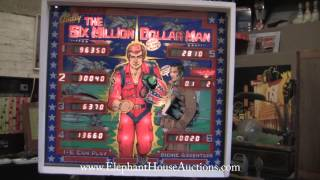 1978 Bally Six Million Dollar Man Pinball Machine