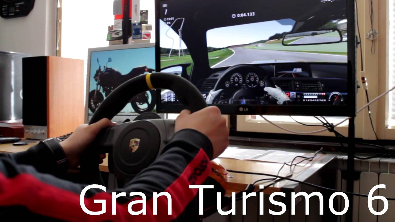 fanatec porsche 911 gt3 rs v2 racing wheel gameplay gt6 ps3 youtube. Black Bedroom Furniture Sets. Home Design Ideas