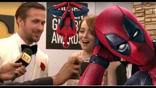 Emma Stone Reacts to Ryan Reynolds Kissing Ex Andrew Garfield at Golden Globes