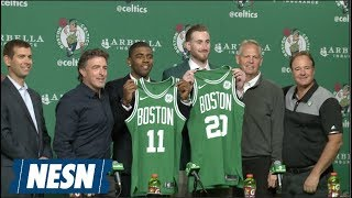 Kyrie Irving, Gordon Hayward Celtics Introductor Press Conference