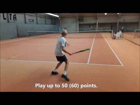 "Tennis Drills - Grooving Groundstrokes with Purpose - ""Odd & Even Groundstrokes"""