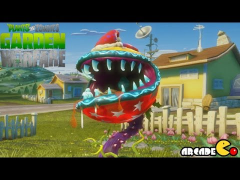 Plants vs Zombies Garden Warfare Gameplay -  Christmas Festive Fire Chomper
