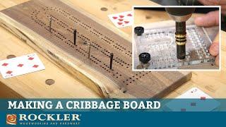 How Make a DIY Cribbage Board