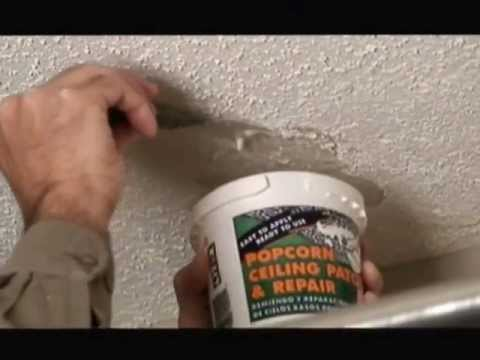 Popcorn Ceiling Patch Repair Video
