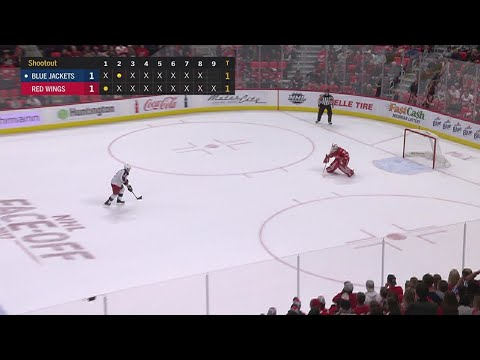 Blue Jackets, Red Wings meet in lengthy shootout