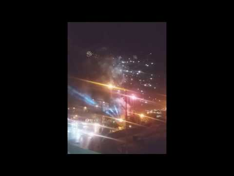 Fireworks near Karachi seaport
