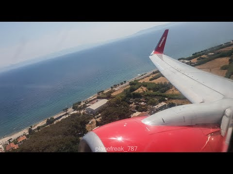 Corendon 737-800 powerful departure out of Mytilene (Lesbos)!