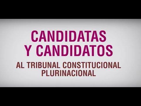 Candidat@s al Tribunal Constitucional Plurinacional