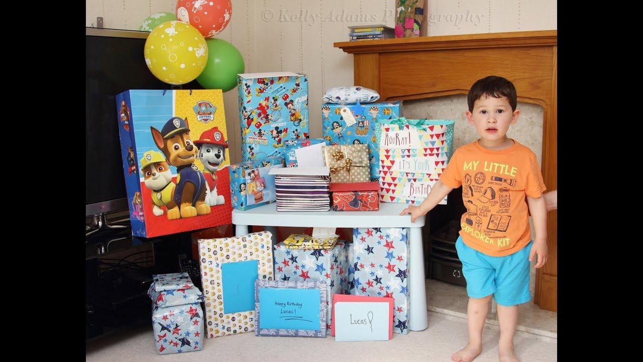 OPENING BIRTHDAY PRESENTS Lucas 3rd Birthday Boy Presents