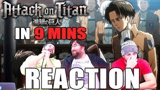 Attack on Titan IN 9 MINUTES - REACTION!!!