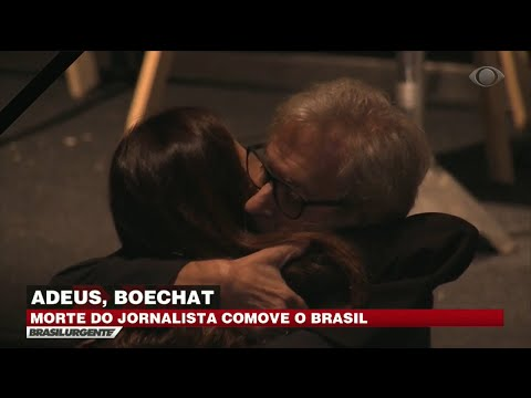 Amigos se emocionam com a morte de Boechat