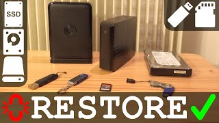 Fix Restore corrupted or deleted partition | Hard Disk Pendrive SSD Memory Card | NTFS FAT EXT4