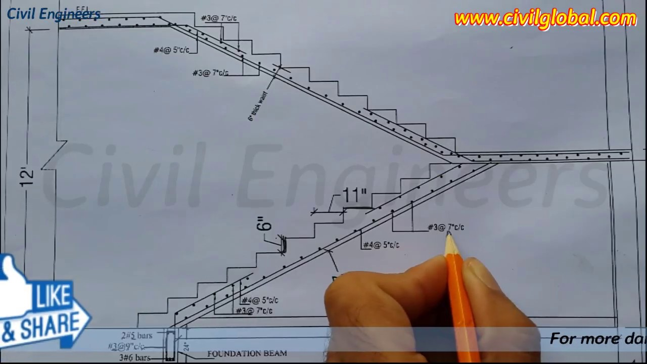 Reading Drawing For Rcc Staircase How To Read Structural