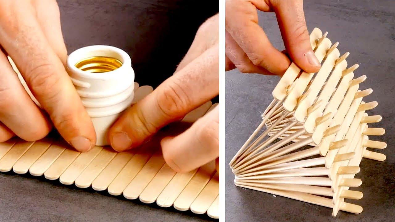 '나무'를 이용한 11가지 DIY 아이디어 | 코르크와 목재, 아이스크림 스틱 | 실내 장식