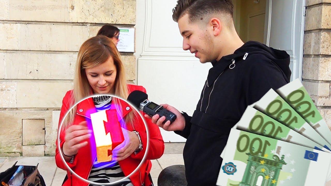 100 EUROS SI ELLE OUVRE LA BOÎTE ! 💵