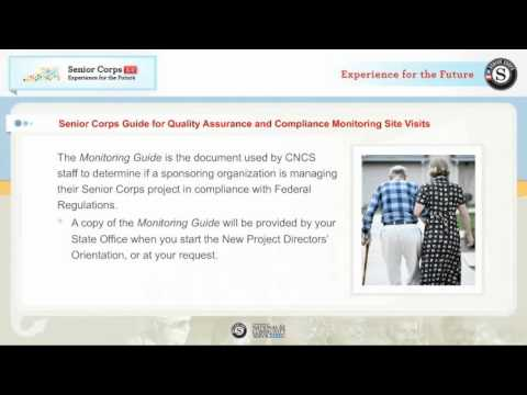 New Senior Corps Project Director Orientation Overview