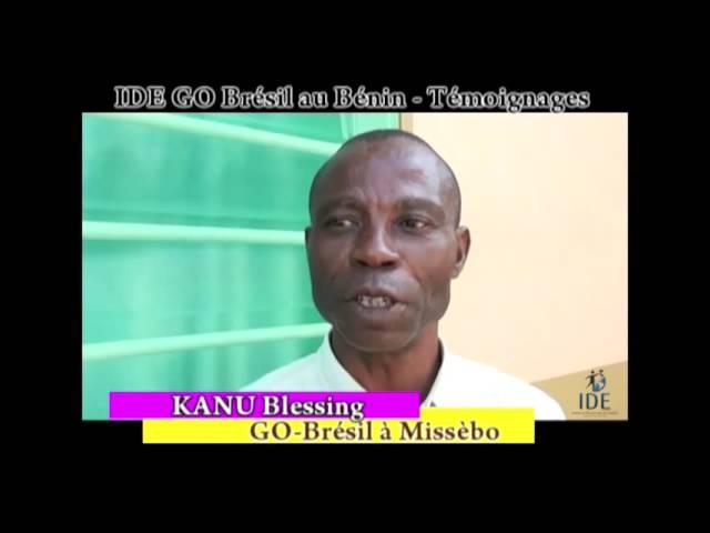 Testemunho Kanu Projeto Benin - IDE GO