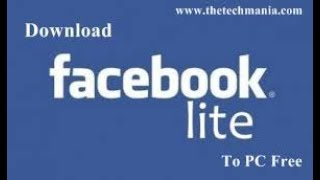 Gambar cover download fb lite sur PC
