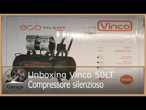 Unboxing compressore silenzioso Unboxing silent compressor Vinco 50LT