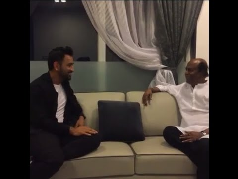 M.S.Dhoni with Superstar Rajinikanth| Dhoni The Untold Story Promotion|Sushant Singh Rajput