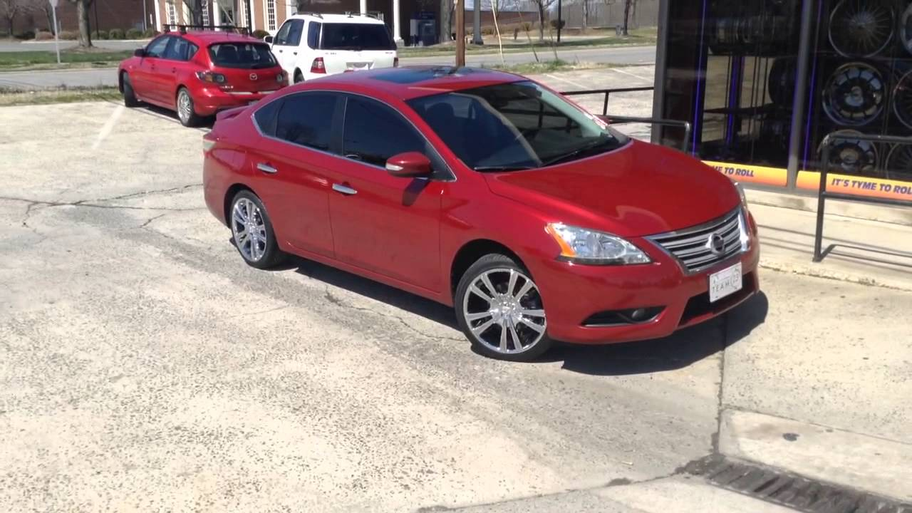 2013 Nissan Sentra On 18 Quot Vct Monza With 225 40 18 Lexani