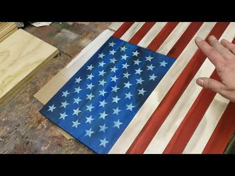 Wooden flag assembly