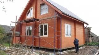 Дачный дом для постоянного проживания из двойного бруса.(Дачный дом загородного отдыха. - качество двойного бруса - почему были выбраны винтовые сваи для фундамен..., 2016-09-28T11:03:41.000Z)