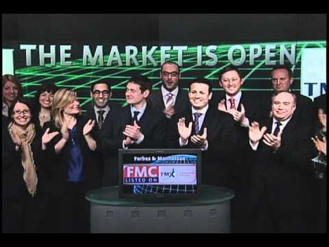 Forbes & Manhattan (FMC:TSX) opens Toronto Stock Exchange, January 28, 2011.